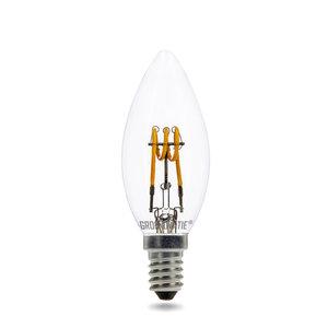 E14 LED Filament Kaarslamp 3W Spiral Extra Warm Wit Dimbaar