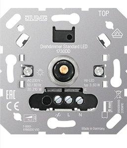 Jung LED Dimmer 230V, fase af- én aansnijding, 3W-210W