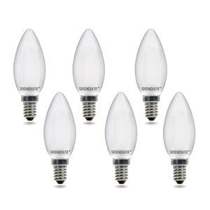 E14 LED Filament Kaarslamp 2W Warm Wit Dimbaar Mat 6-Pack