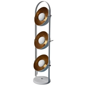 Nice Industrieel Design Triple Vloerlamp Goud Wit