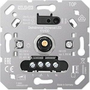 Jung LED Dimmer 230V, fase af- én aansnijding, 3W-420W