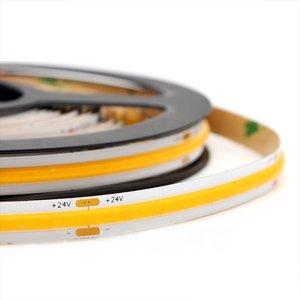 LED COB Strip, 5 Meter, 5 Watt/meter, 352 LED'/m, Warm Wit, 24V