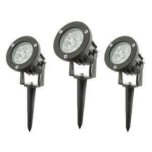 LED Prikspot Tuinverlichting 5W Waterdicht IP65, Koel Wit, 3-Pack