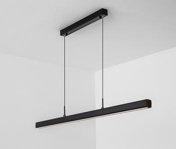 LED Linear Hangarmatuur, 30W, 80cm, Mat Zwart, Warm Wit