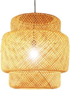 Bamboe Hanglamp, Handgemaakt, Naturel, ⌀36 cm