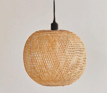 Bamboe Hanglamp, Handgemaakt, Naturel, ⌀43 cm