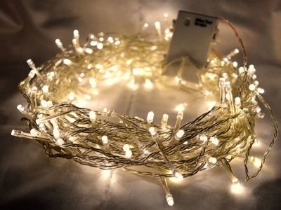 LED Kerstverlichting Op 3xAA Batterijen Warm Wit, 2 Meter, 20 Lampjes