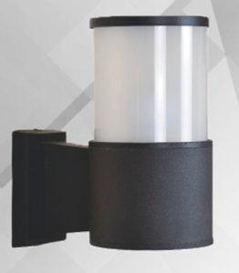 Buiten Wandlamp, Modern Design, E27 Fitting, Waterdicht IP54, Mat Zwart