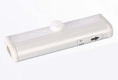 LED Kastverlichting 0.3W op Batterijen met Sensor, Onderbouw, Koel Wit