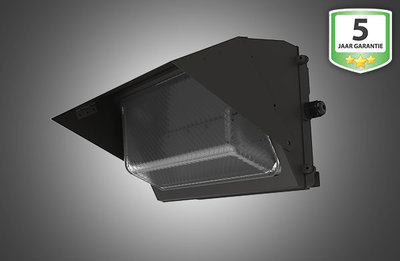 LED Wand Armatuur Pro 40W, Glas, Zwart, Waterdicht IP65, Neutraal Wit 4000K