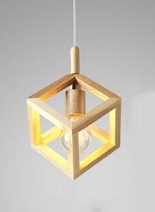 Houten Design Hanglamp, E27 Fitting, 20x16cm, Naturel