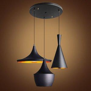 Catalpa Design Hanglamp, 3 Kappen, Mat Zwart