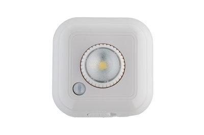 LED Kastlamp 0.5W op Batterijen, Sensor, Wit, Kantelbaar, Dimbaar