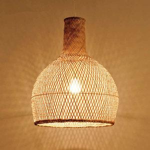 Bamboe Hanglamp, Handgemaakt, Naturel, ⌀40 cm