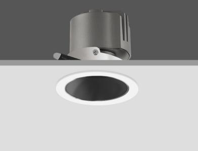 LED Inbouwspot 5W Dimbaar, Kantelbaar, Wit/Zwart, Rond, Ø65mm, Warm Wit