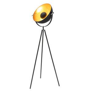 Nice Basic Industrieel Design Tripod Vloerlamp Goud Zwart
