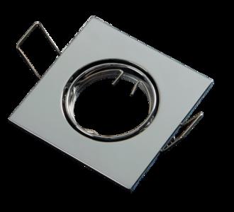 Inbouwspot MR11 35 mm Vierkant Aluminium Chrome