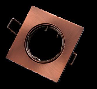 inbouwspot vierkant geborsteld aluminium brons