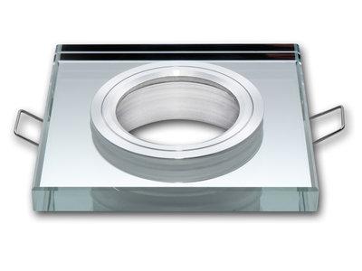 Inbouwspot Vierkant Glas Chrome
