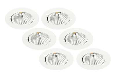 6-Pack led inbouwspot