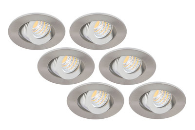 6 Pack LED Inbouwspot