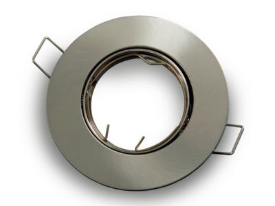 inbouwspot rond aluminium satijn