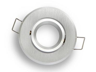 inbouwspot rond geborsteld aluminium