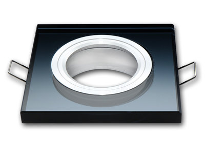 Inbouwspot Vierkant Glas Zwart