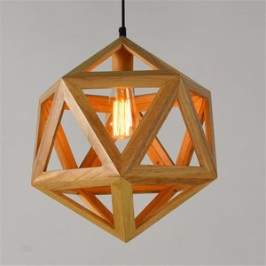 Houten design lamp